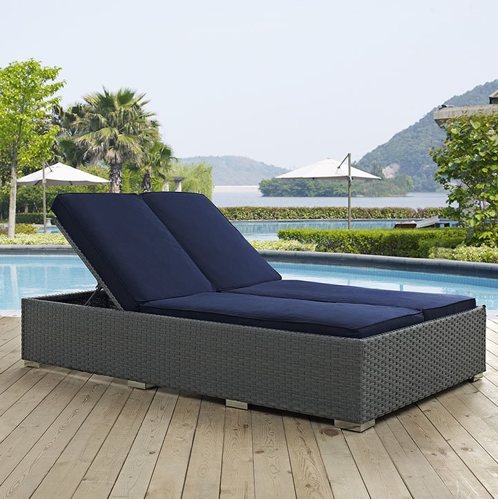 Amazing 2 Person Chaise Lounge Double Patio Chaise Lounge Chairs Youll Love Wayfair