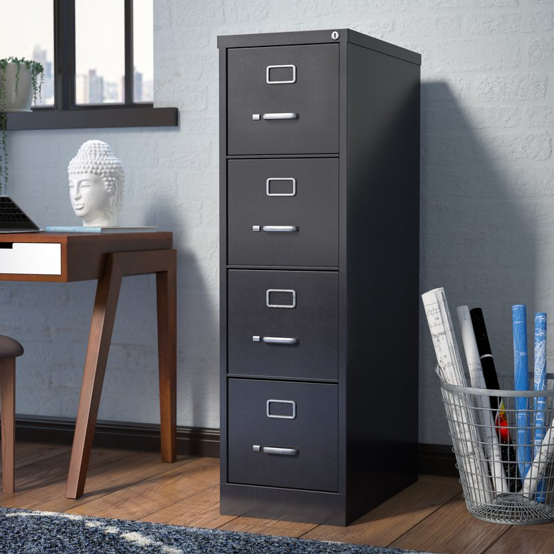 Amazing 4 Drawer Wood File Cabinet With Lock Locking Filing Cabinets Youll Love Wayfair