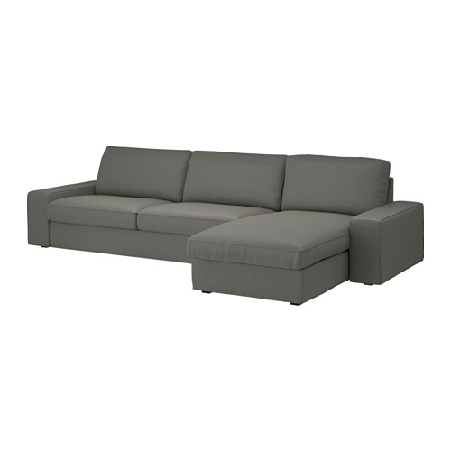Amazing 4 Seater Sofa Ikea Kivik 4 Seat Sofa With Chaise Longueborred Grey Green Ikea