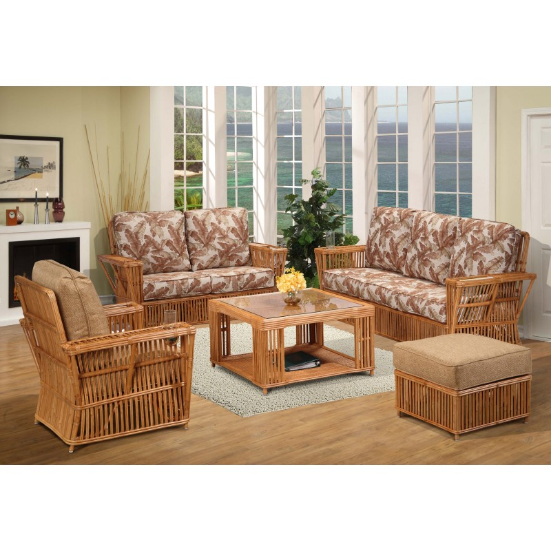 Amazing 5 Piece Living Room Set President Rattan 5 Piece Rattan Living Room Set Honey