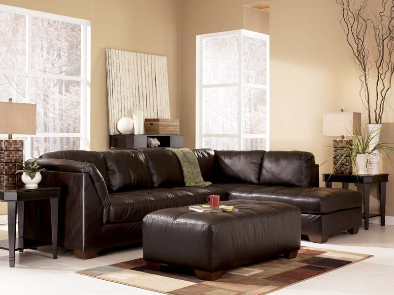 Amazing Ashley Furniture Corduroy Couch Harrington Chocolate Sectional Sofa Signature Design Ashley