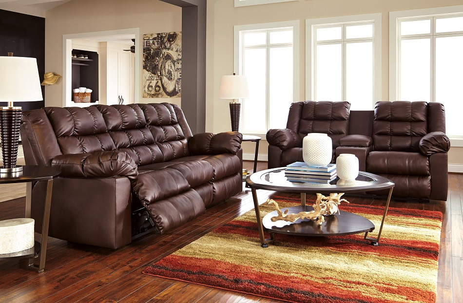 Amazing Ashley Furniture Leather Loveseat Recliner Ashley Furniture Brolayne Durablend Collection 83202 Ashley