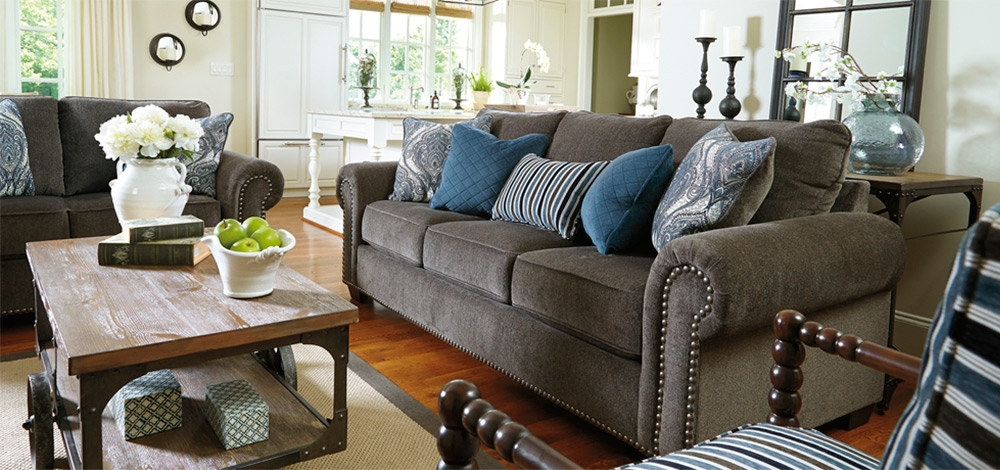 Amazing Ashley Living Room Sofas Ashley Furniture Darcy Cobblestone Living Room Sofa Sets Plush