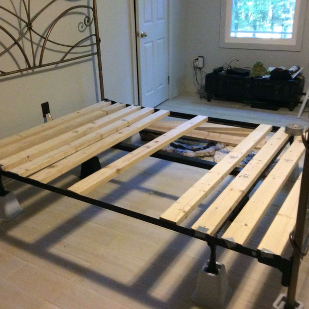 Amazing Bed Foundations For Memory Foam Foundation For Queen Size Memory Foam Bed From Basic Frame 5 Steps