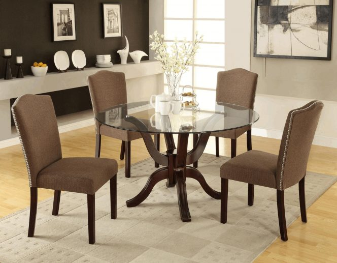 Amazing Black Brown Dining Chairs Simple Wooden Dining Table White Diffused Light Pendant Lamp Brown