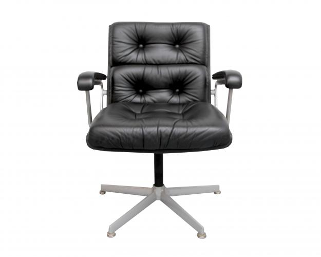 Amazing Black Leather Office Chair Black Leather Office Chair From Girsberger 1960s For Sale At Pamono