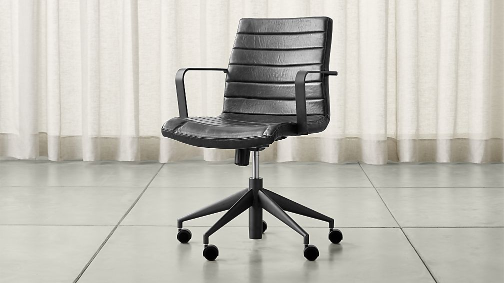 Amazing Black Office Furniture Graham Black Office Chair Crate And Barrel