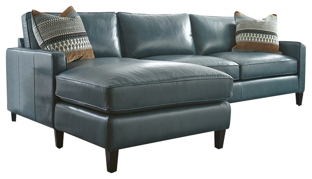 Amazing Blue Leather Chaise Lounge Turquoise Leather Sectional With Chaise Lounge Transitional