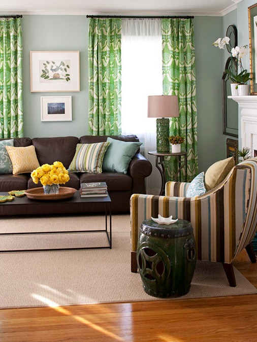 Amazing Brown Couch Living Room Bhg Centsational Style