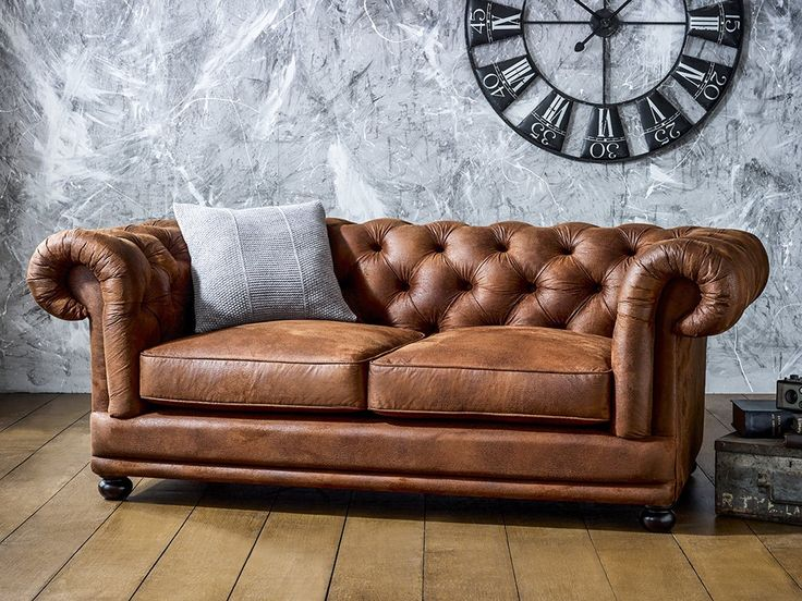 Amazing Brown Leather Couch With Studs Best 25 Faux Leather Sofa Ideas On Pinterest Brown Sofa Design