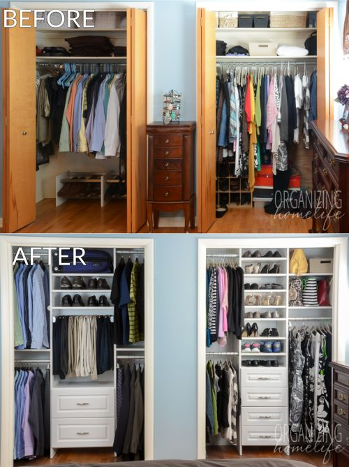 Amazing Clothes Closet Design Ideas Master Bedroom Closet Makeover Before And After Organizing
