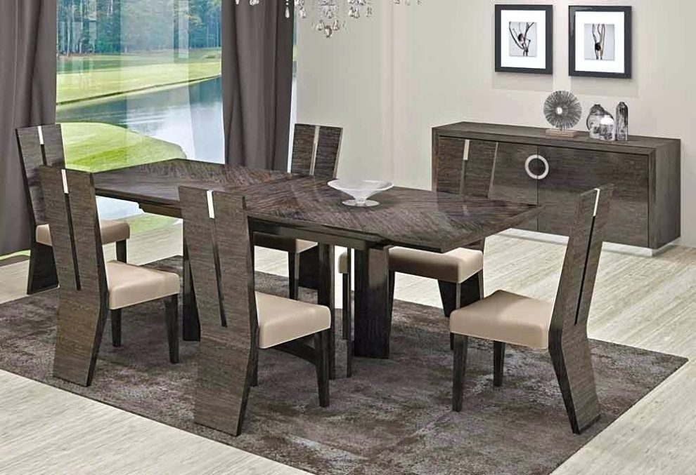 Amazing Contemporary Rectangular Dining Table Modern Rectangular Wood 7 Pc Dining Table And Chairs Set