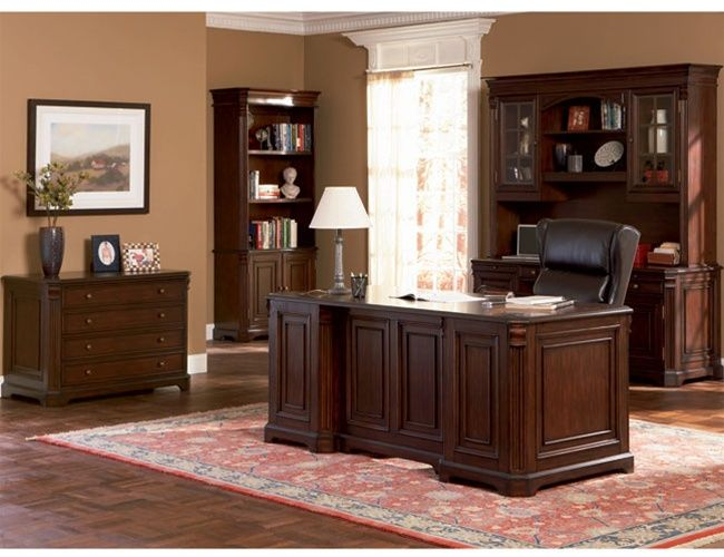 Amazing Dark Wood Office Desk Dark Finish Hardwood Executive Desk For Home Office Wood Office