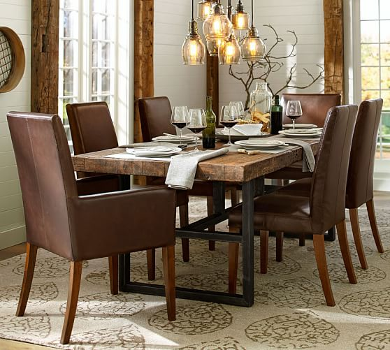 Amazing Dining Table And Chair Set Griffin Fixed Dining Table Grayson Chair Set Pottery Barn