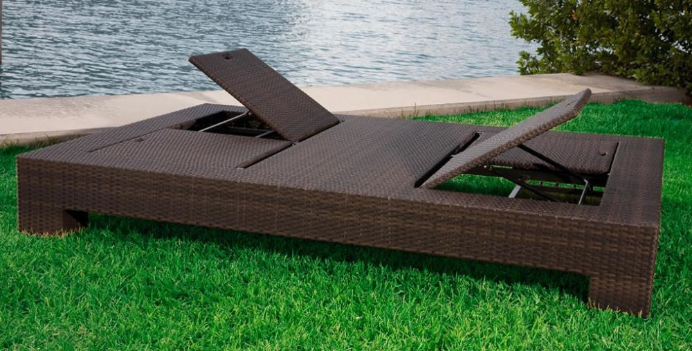 Amazing Double Chaise Lounge Outdoor Source Outdoor King Wicker Double Chaise Lounge Wicker