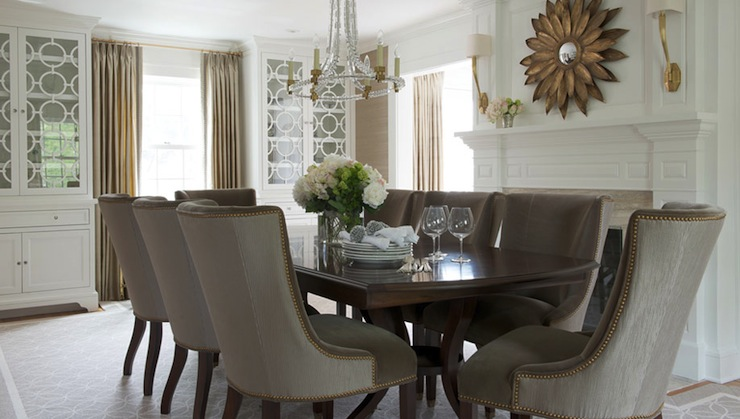 Amazing Elegant Dining Chairs Taupe Dining Chairs Transitional Dining Room Morgan Harrison