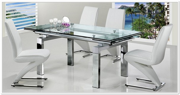 Amazing Extending Glass Dining Table And Chairs Glass Extendable Dining Table Kobe Table