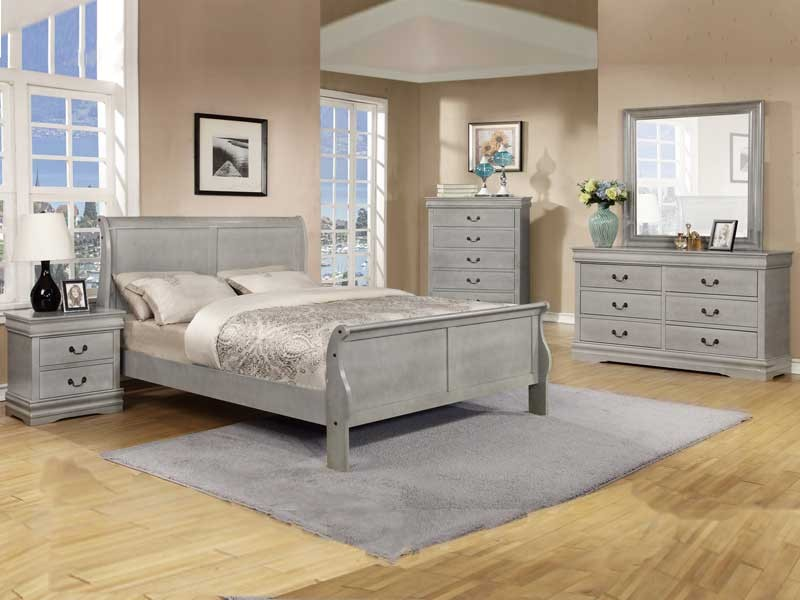 Amazing Full Queen Bedroom Sets Pc Louis Phillipe Grey Queen Bedroom Set