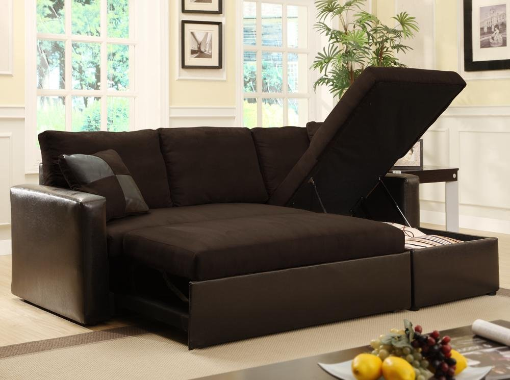 Amazing Futon Sectional Sleeper Sofa Charming Sleeper Sofa With Storage With Futon Couch With Storage