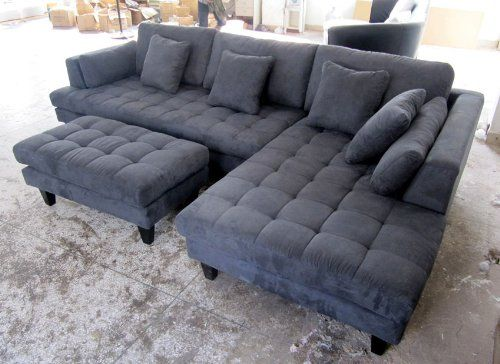 Amazing Grey Microfiber Sectional With Chaise Sofa Beds Design The Most Popular Contemporary Sectional Sofa