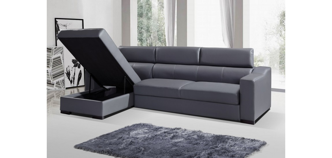 Amazing Grey Sectional Sofa Bed Ritz Sectional Sofa Bed In Grey Italian Leather