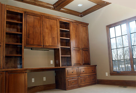 Amazing Home Office Wall Unit Home Office Custom Built Wall Unit Desk Wood Accented Ceiling