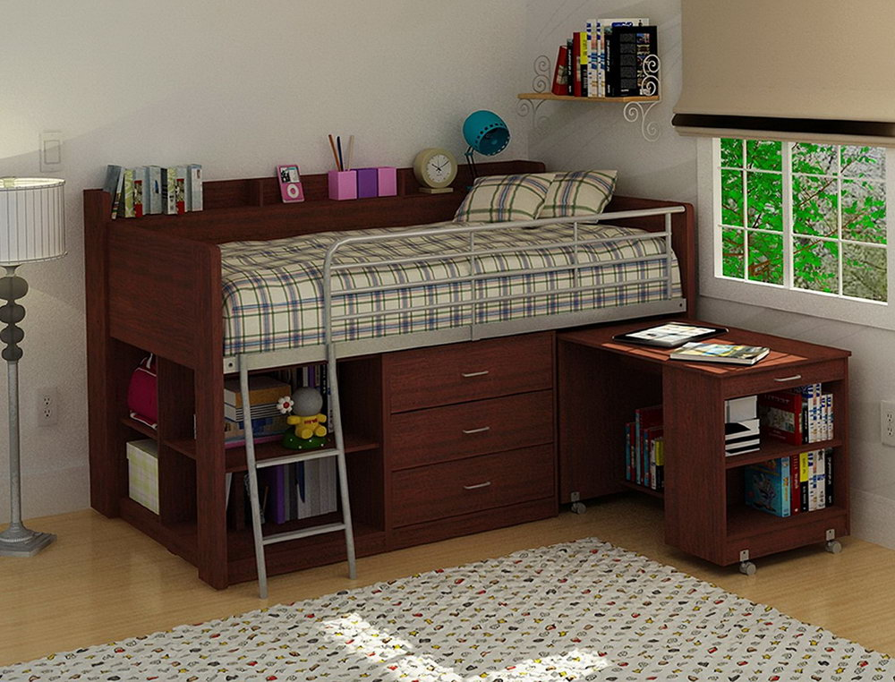 Amazing Ikea Bed With Table Bunk Bed Desk Ikea Home Design Ideas