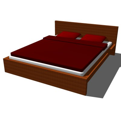 Amazing Ikea Queen Size Bed And Mattress Ikea Malm Bed 3d Model Formfonts 3d Models Textures
