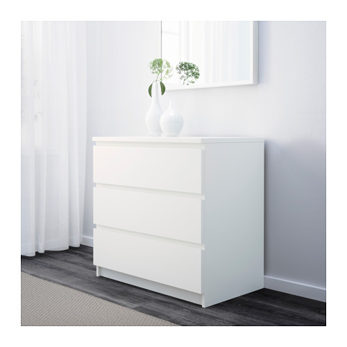 Amazing Ikea Slim Chest Of Drawers Malm Chest Of 3 Drawers White 80x78 Cm Ikea