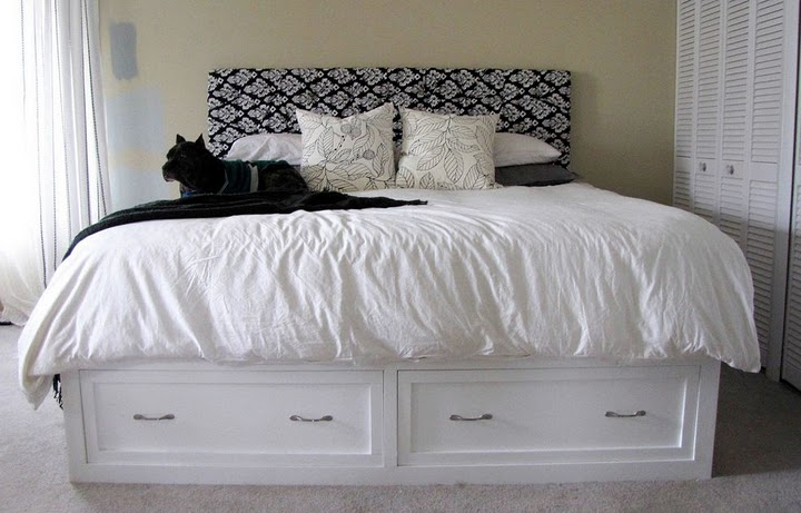 Amazing King Bed Frame With Storage Ana White King Storage Bed Diy Projects