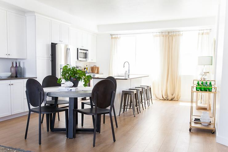 Amazing Kitchen Side Chairs Concrete Dining Table With Gab Joyce Side Chairs Transitional