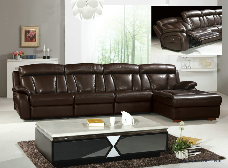 Amazing L Shaped Recliner Sofa Grand Brown Genuine Leather Large L Shaped Recliner Sofa Set Y