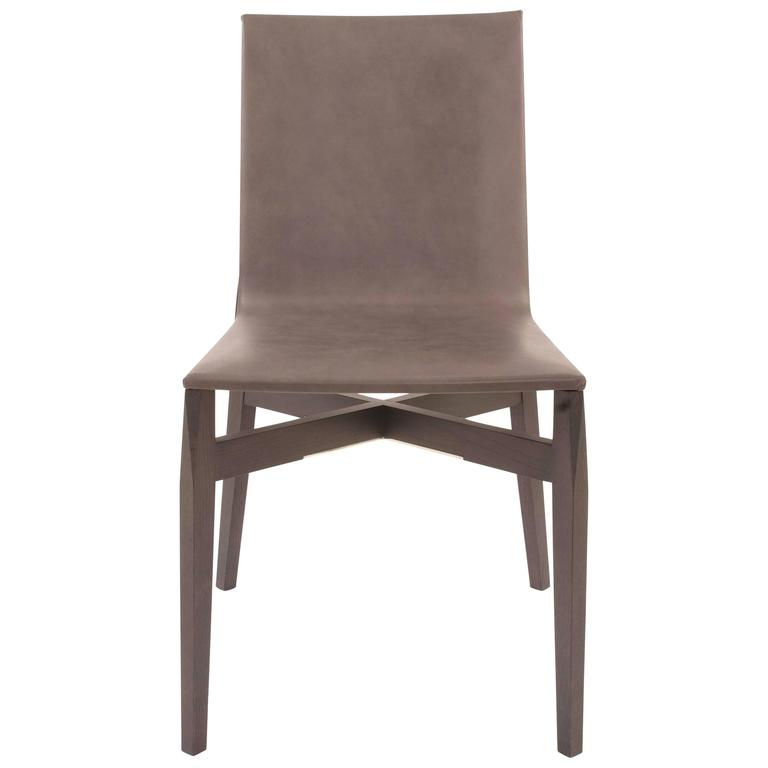 Amazing Leather Covered Dining Chairs Grey Leather Covered Who Dining Chair Rodolfo Dordoni For