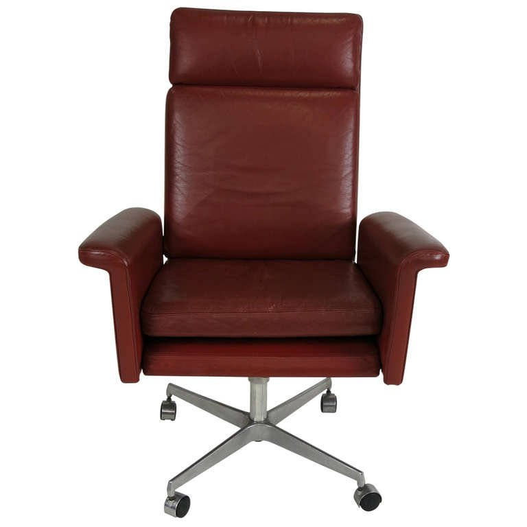 Amazing Leather Executive Chair Leather Executive Chair Attributed To Arne Vodder At 1stdibs