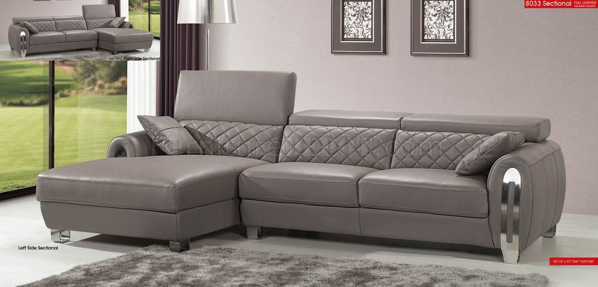 Amazing Light Grey Sectional Couch Light Grey Full Italian Leather Modern Sectional Sofa