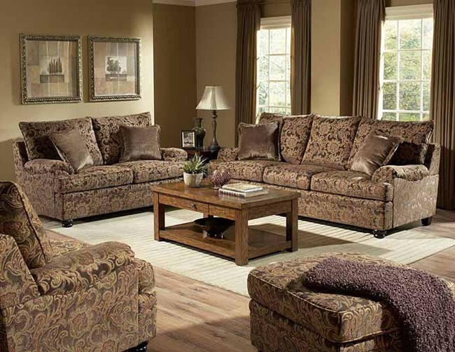 Amazing Living Room Sofa And Loveseat Sets Rich Floral Chenille Traditional Living Room Sofa Loveseat Set
