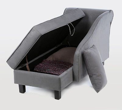 Amazing Lounge Chair With Storage Decor Of Chaise Lounge With Storage Modern Grey Chaise Lounge