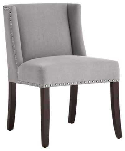 Amazing Low Back Dining Chairs Low Back Wing Dining Chair Fabric Transitional Dining Chairs
