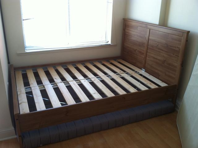 Amazing Mattress On Bed Frame Without Box Spring How To Disassemble An Ikea Aspelund Bed Frame Snapguide