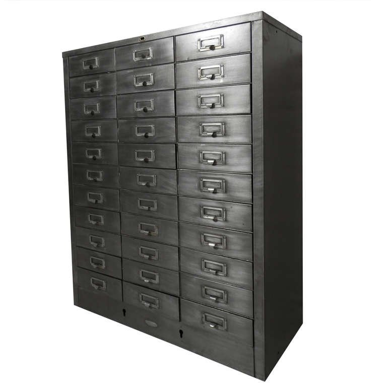 Amazing Metal Filing Cabinet Cole Steel Industrial Metal File Cabinet At 1stdibs