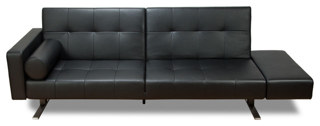 Amazing Modern Black Leather Couch Gorgeous Contemporary Leather Sleeper Sofa With Contemporary