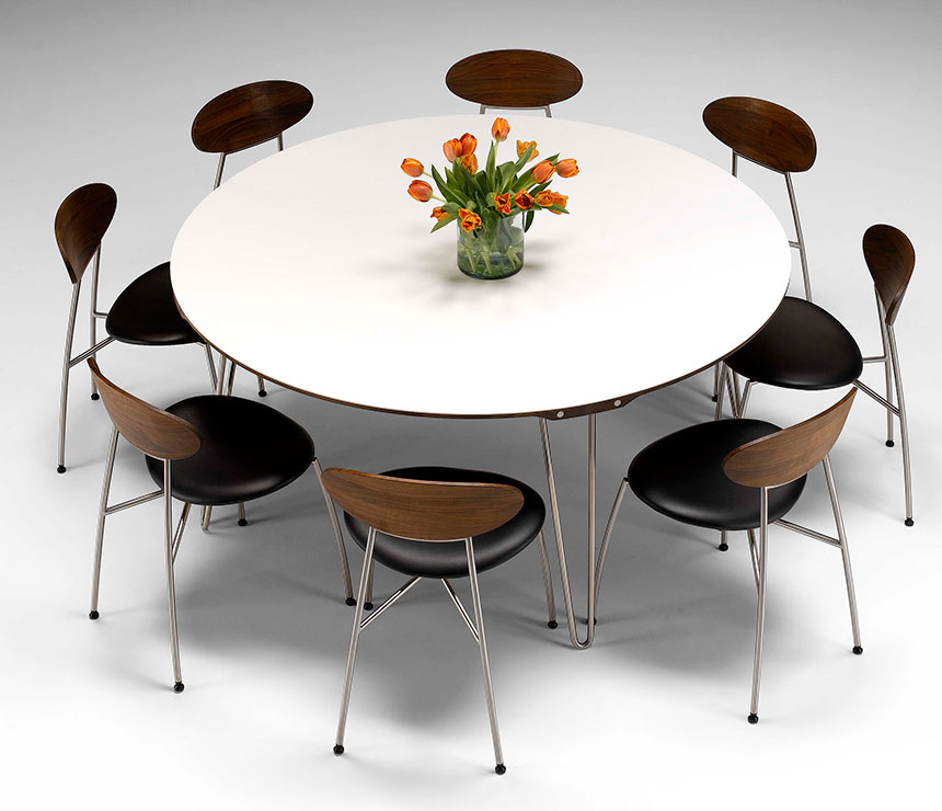 Amazing Modern Circular Dining Table Modern Dining Table With Large White Round Expandable Dining Table
