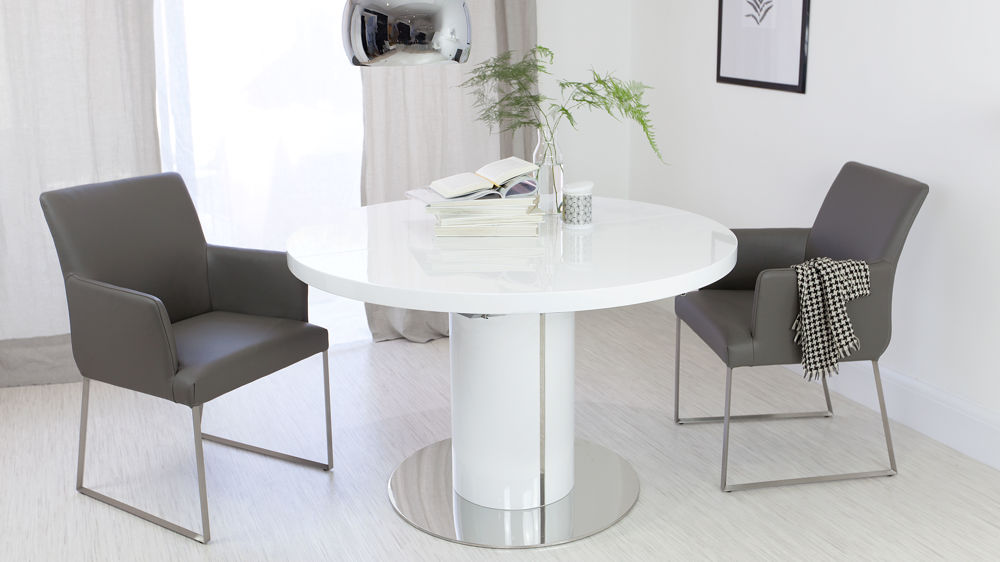 Amazing Modern Round White Dining Table Modern White Gloss Dining Table Table Saw Hq