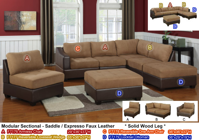 Amazing Modular Sectional Sofa Microfiber Inspirations Modular Sectional Sofa Microfiber With Image 18 Of 18