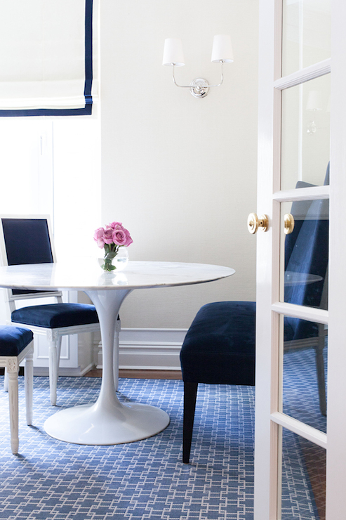 Amazing Navy And White Dining Chairs Navy Plastic Dining Chairs Design Ideas