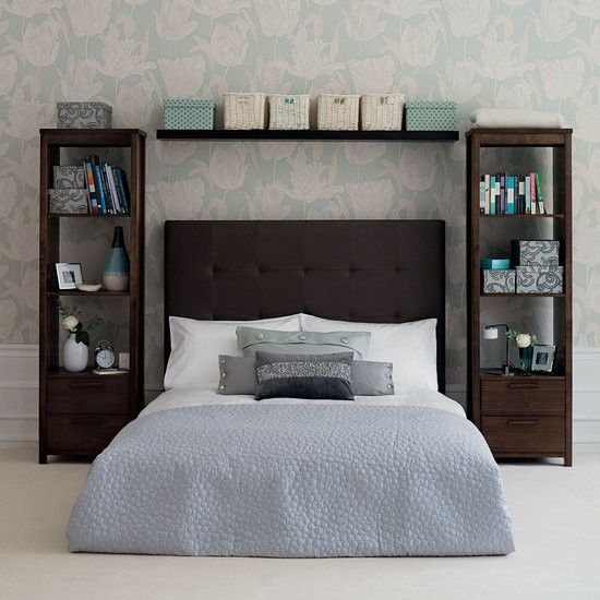 Amazing Nightstands For Tall Beds Tall Bookshelves Instead Of Nightstand Bedroom Ideas Pinterest