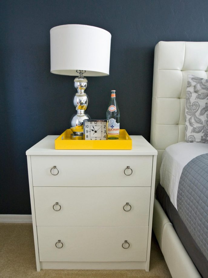 Amazing of 1 Foot Wide Nightstand White And Silver Bedside Tables Tags Flawless Short Nightstand