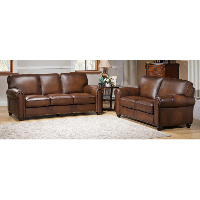Amazing of 2 Piece Leather Living Room Set Amax Aspen 2 Piece Leather Living Room Set Reviews Wayfair