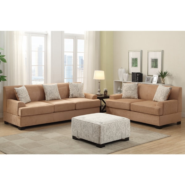 Amazing of 2 Piece Living Room Set Narvik 2 Piece Microsuede Living Room Set With Matching Ottoman