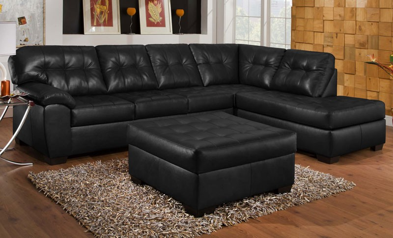 Amazing of 2 Piece Sectional Couch Showtime Onyx 2 Piece Sectional Sofa Living Room